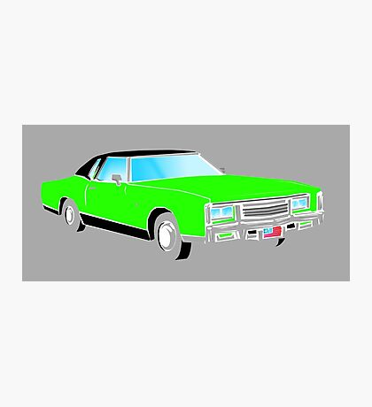 American Car - GREEN Photographic Print