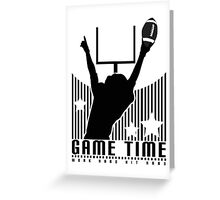 Game Time - Football (White) Greeting Card