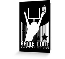 Game Time - Football (Black) Greeting Card
