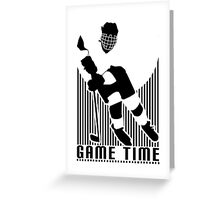 Game Time - Hockey (White) Greeting Card