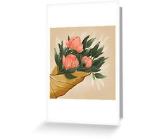 Peonies Greeting Card