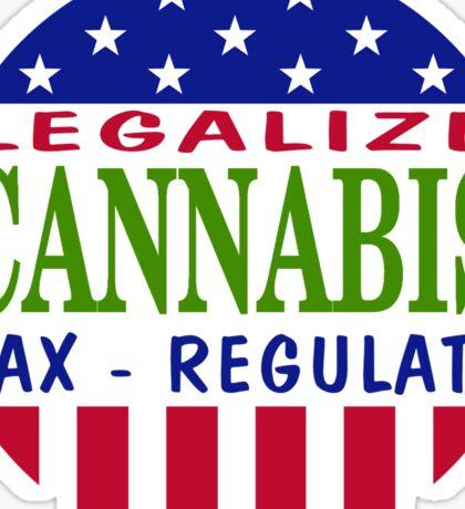 Legalize Cannabis Marijuana Sticker