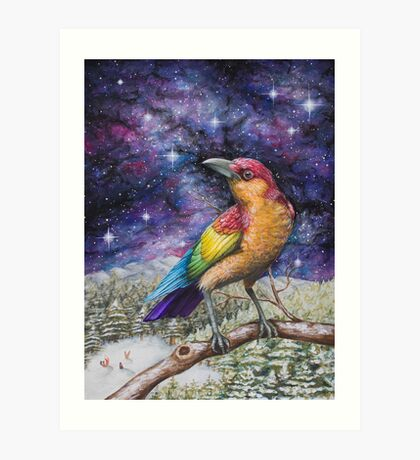 Rainbow Crow Art Print