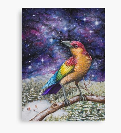 Rainbow Crow Canvas Print