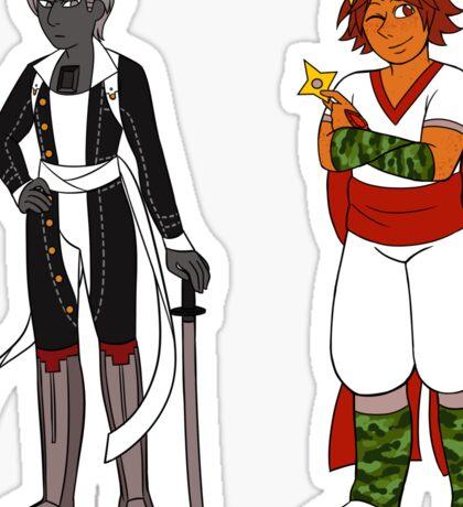 Hematite + Sunstone (Steven Universe + Persona 4) Sticker