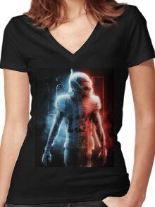 Odell Beckham Jr New York Football Artwork Women's Fitted V-Neck T-Shirt