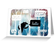 The Echo Greeting Card