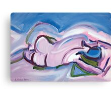 Abstract Reclining Male Nude Canvas Print
