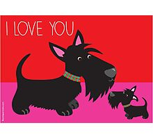 I Love You – Scottie Photographic Print