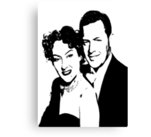 William Holden And Gloria Swanson Canvas Print