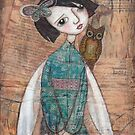 Angel with owl by Katherine McDonald