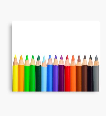 Coloured Pencils - New 2017 - High Quality Graphics Canvas Print