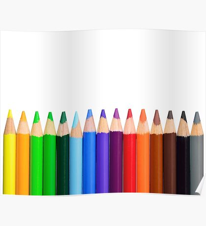 Coloured Pencils - New 2017 - High Quality Graphics Poster