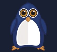 Blue Penguin Baby Tee