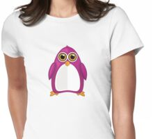 Violet Penguin Womens Fitted T-Shirt