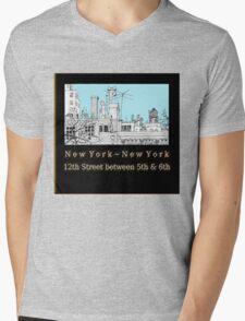Greenwich Village Roofscape  Mens V-Neck T-Shirt