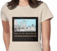 Greenwich Village Roofscape  Womens Fitted T-Shirt