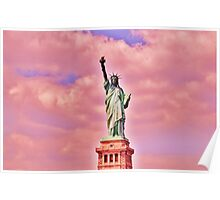 Pink Statue of Liberty  Poster