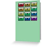Cassette Rainbow Greeting Card