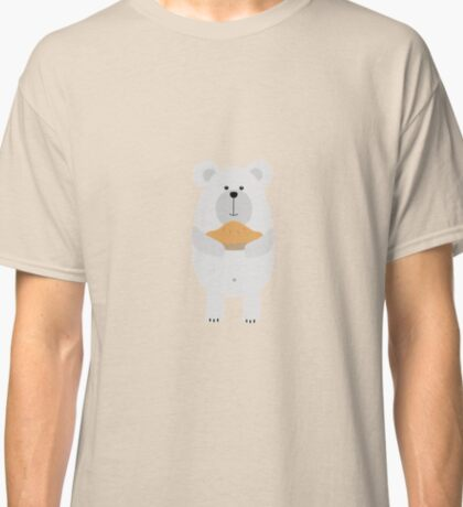 Polar Bear with pie Classic T-Shirt