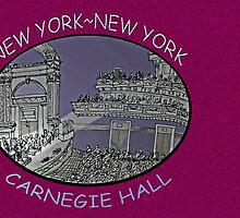 NYC-Carnegie Hall by James Lewis Hamilton