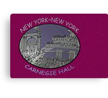 NYC-Carnegie Hall Canvas Print