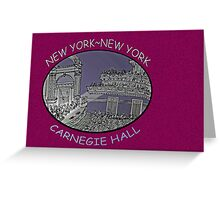NYC-Carnegie Hall Greeting Card