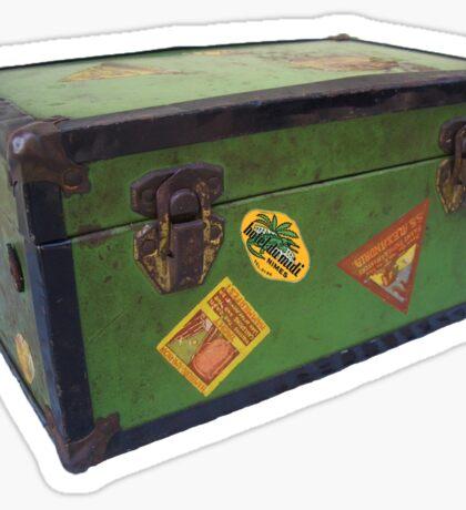vintage steamer trunk Sticker