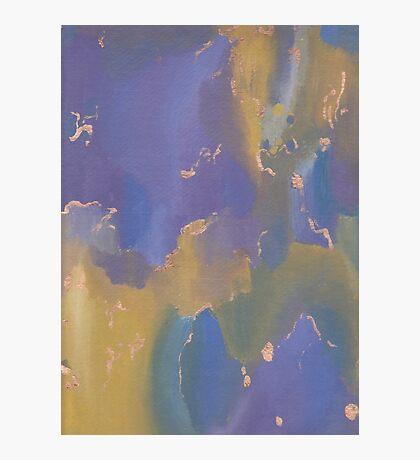 Acrylic Print - Yellow/Blue/Purple Photographic Print