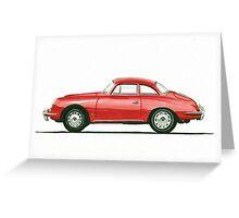 Porsche 356 B Karmann Hardtop Coupe Greeting Card