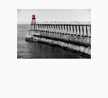 Scenic view of Whitby Pier in autumn sunny  day Unisex T-Shirt