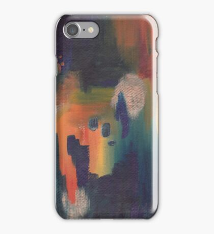 Acrylic Print - Navy/Orange/Yellow iPhone Case/Skin
