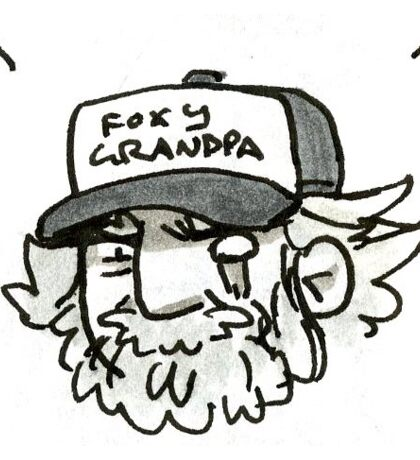 FOXY GRANDPA Sticker