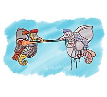 Lobster and Jellyfish Joust Photographic Print