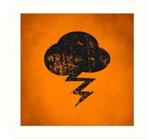 Cloud and storm Art Print
