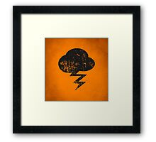 Cloud and storm Framed Print