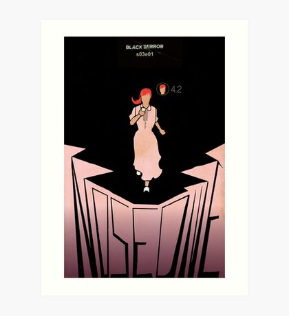 Black Mirror - Nosedive Art Print
