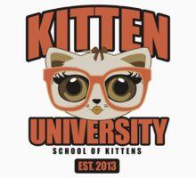 Kitten University - Orange Kids Tee