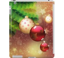 Red and gold balls on branch iPad Case/Skin