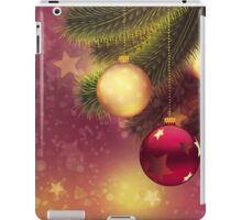 Red and gold balls on branch 2 iPad Case/Skin