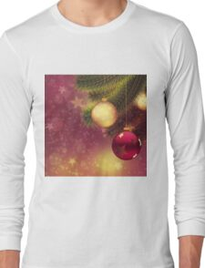 Red and gold balls on branch 2 Long Sleeve T-Shirt