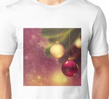 Red and gold balls on branch 2 Unisex T-Shirt