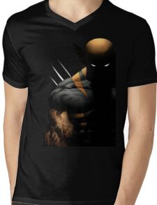 dark wolverine Mens V-Neck T-Shirt