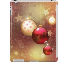Red and gold balls iPad Case/Skin