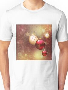 Red and gold balls Unisex T-Shirt