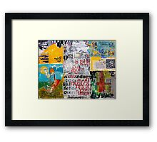 ALL OVER Framed Print