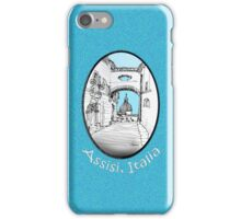 Assisi, Italy, an archway framing the view iPhone Case/Skin