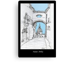 Assisi, Italy, an archway framing the view Canvas Print