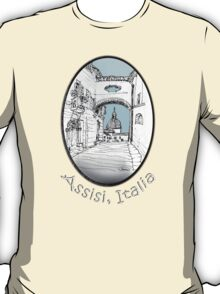 Assisi, Italy, an archway framing the view T-Shirt