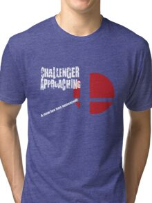 Super Smash Bros: Challenger Approaching! (3DS Style) Tri-blend T-Shirt